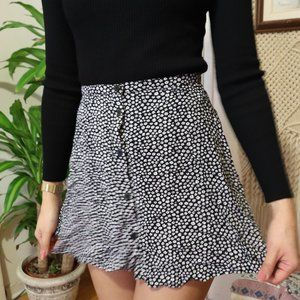 H&M MINI A LINE DITSY SKIRT US 4
